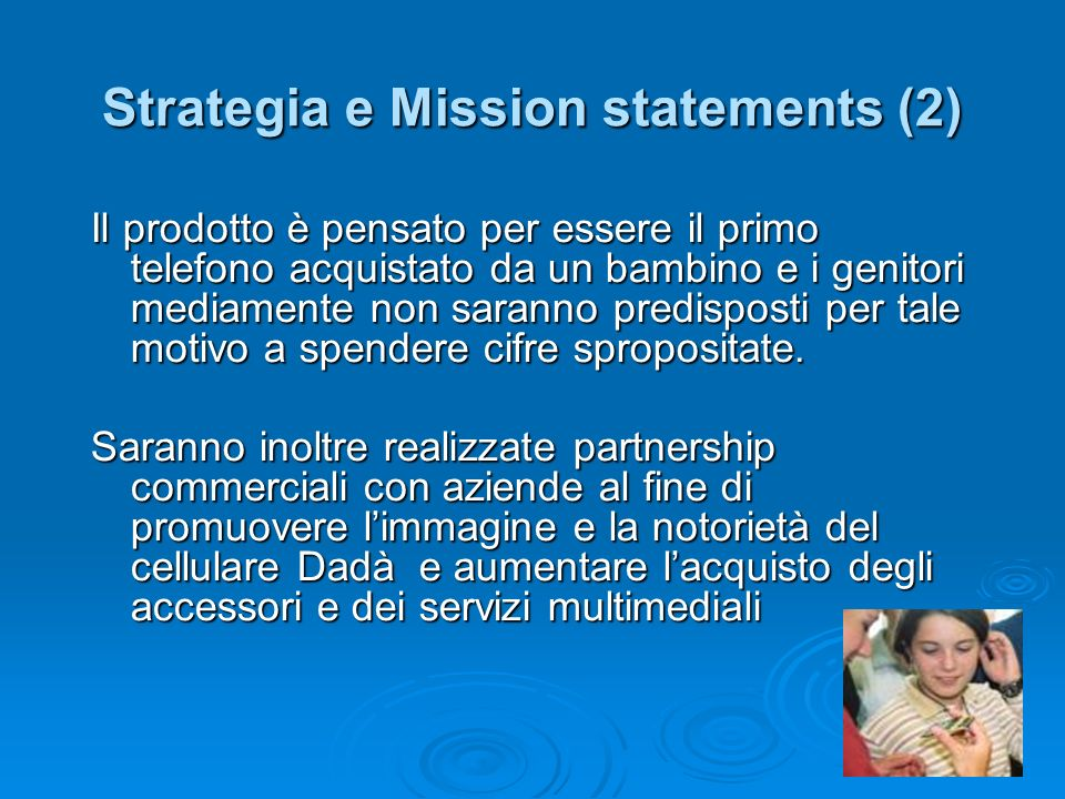 Strategia e Mission statements (2)