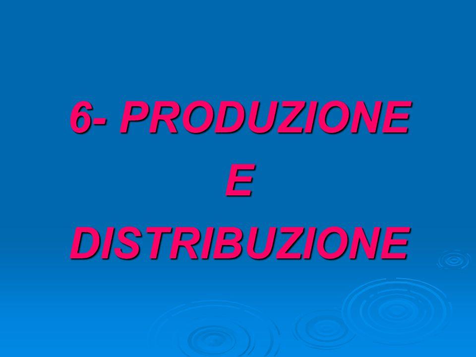 6- PRODUZIONE E DISTRIBUZIONE