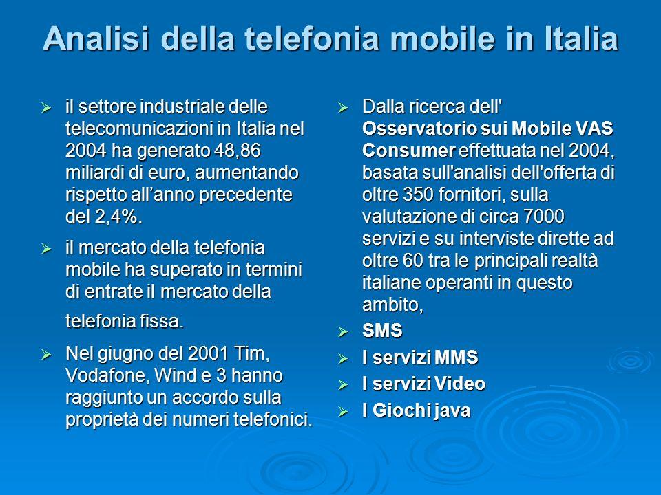 Analisi della telefonia mobile in Italia