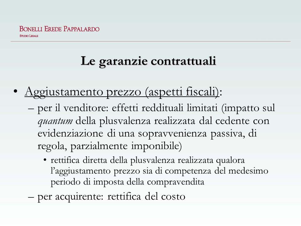 Le garanzie contrattuali