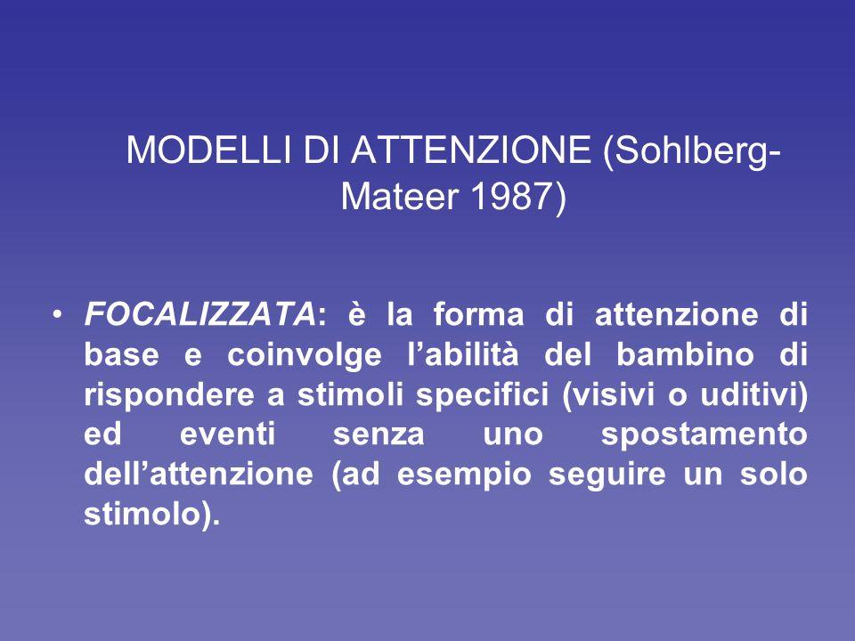 MODELLI DI ATTENZIONE (Sohlberg-Mateer 1987)