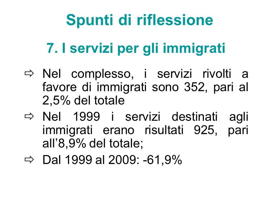 7. I servizi per gli immigrati