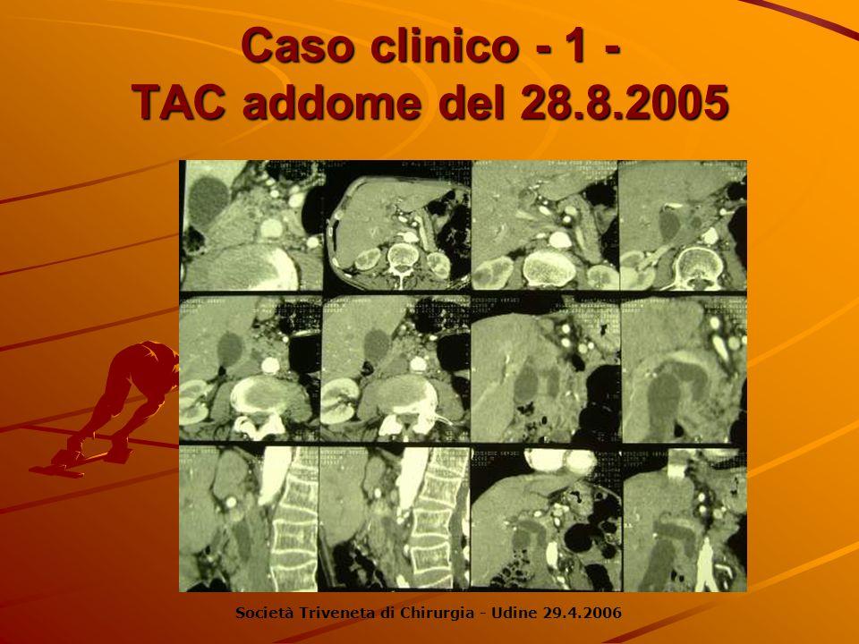 Caso clinico - 1 - TAC addome del 28.8.2005