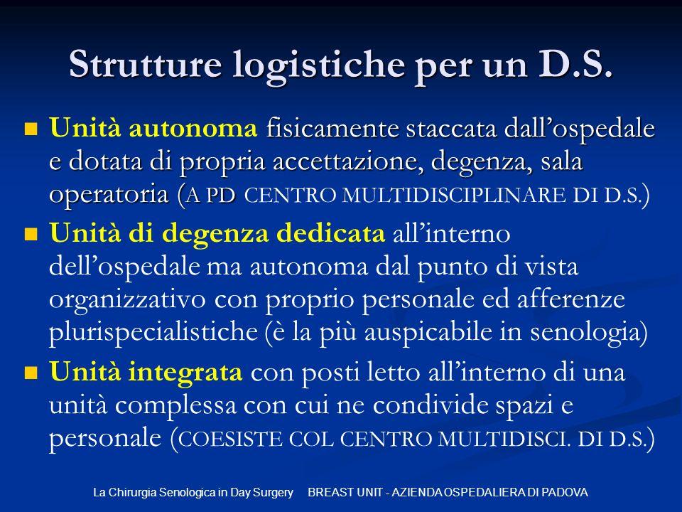 Strutture logistiche per un D.S.