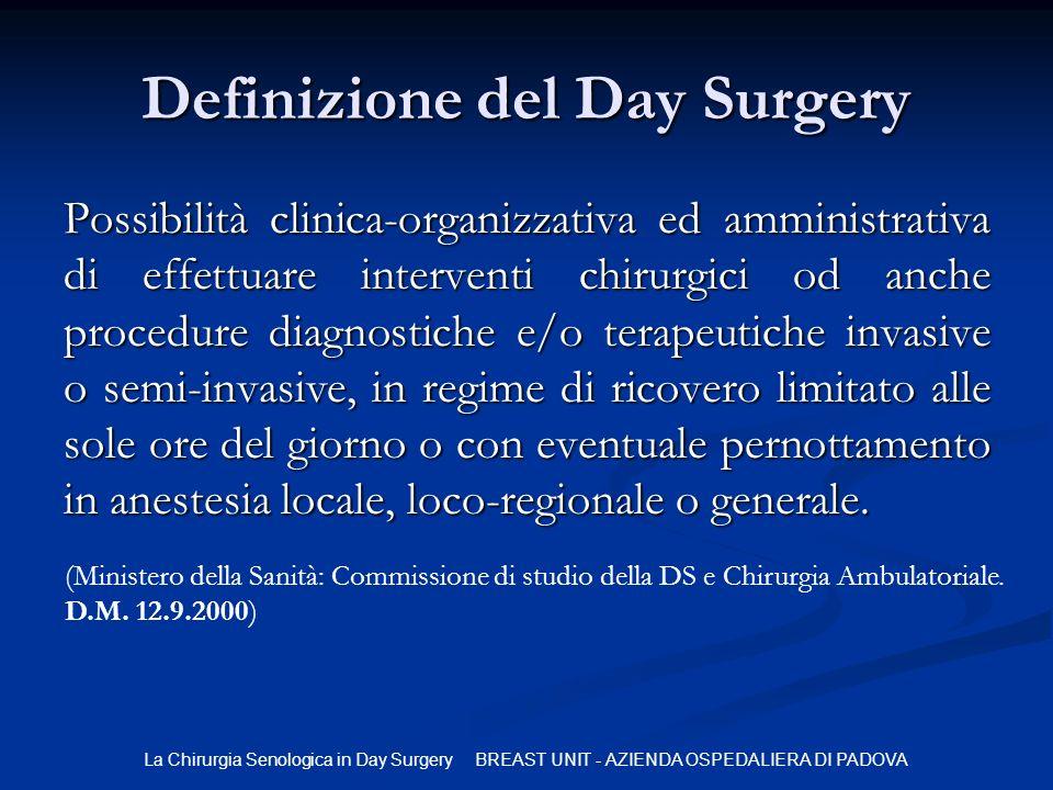 Definizione del Day Surgery