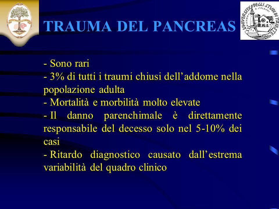 TRAUMA DEL PANCREAS - Sono rari