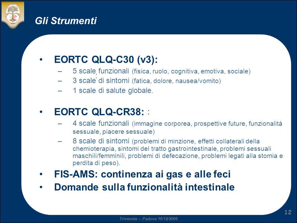 FIS-AMS: continenza ai gas e alle feci