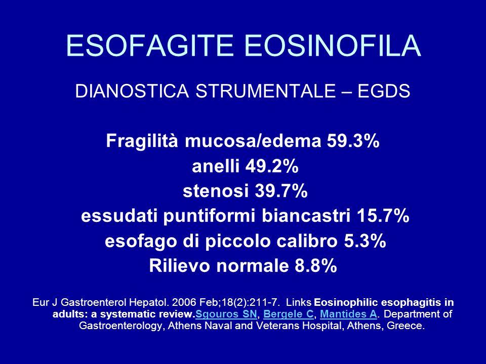 ESOFAGITE EOSINOFILA DIANOSTICA STRUMENTALE – EGDS