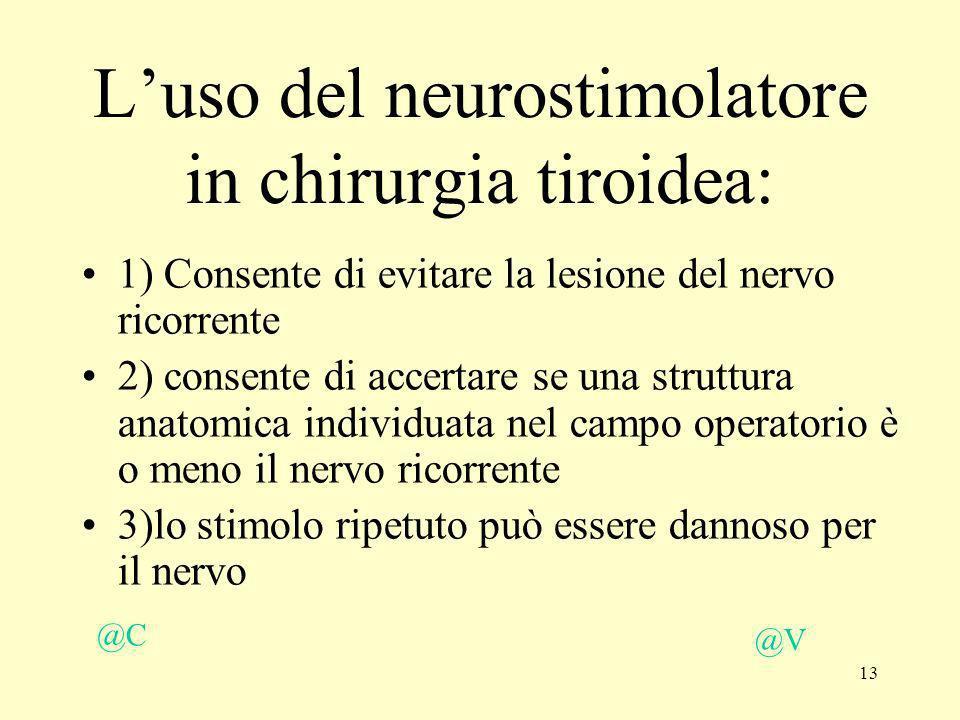 L'uso del neurostimolatore in chirurgia tiroidea: