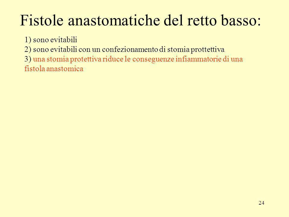 Fistole anastomatiche del retto basso:
