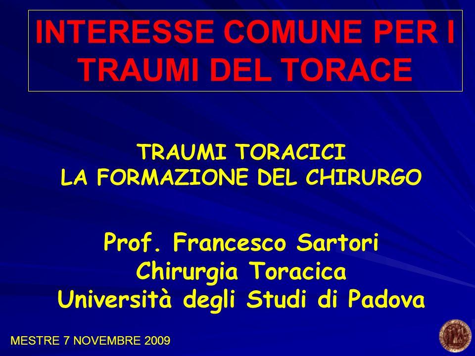 INTERESSE COMUNE PER I TRAUMI DEL TORACE
