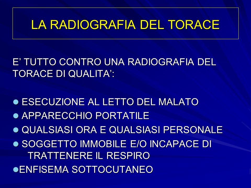 LA RADIOGRAFIA DEL TORACE