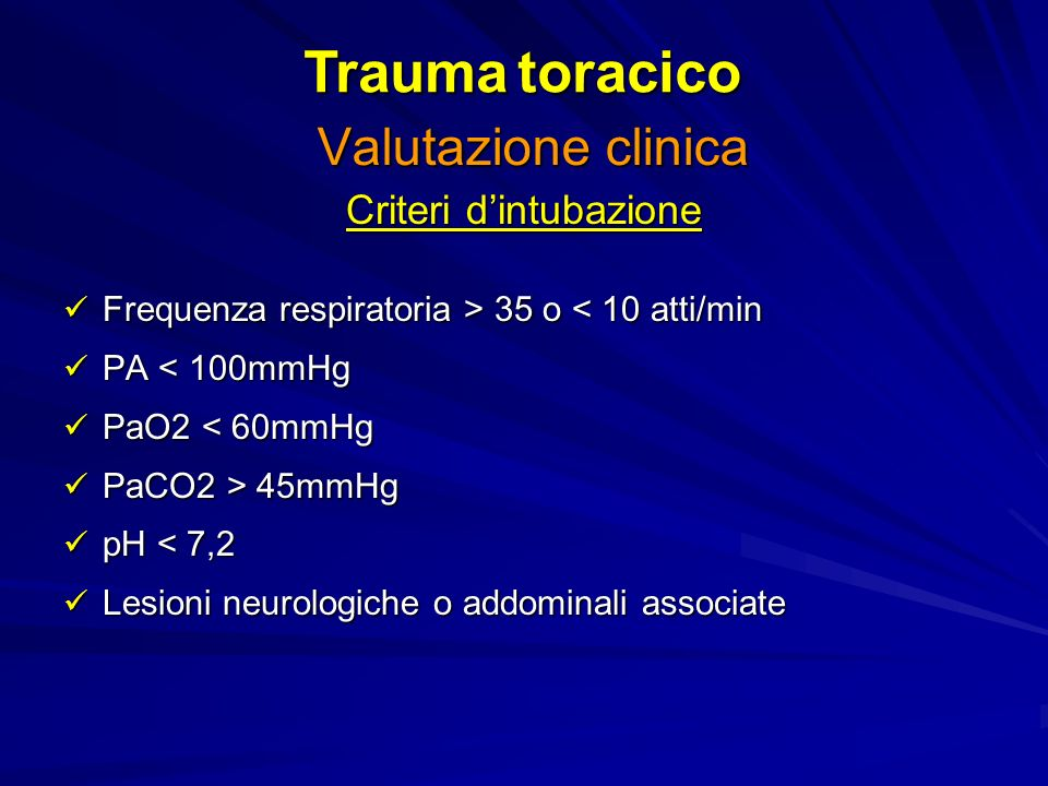 Criteri d'intubazione