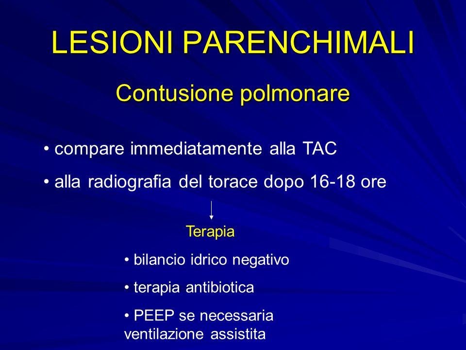 LESIONI PARENCHIMALI Contusione polmonare