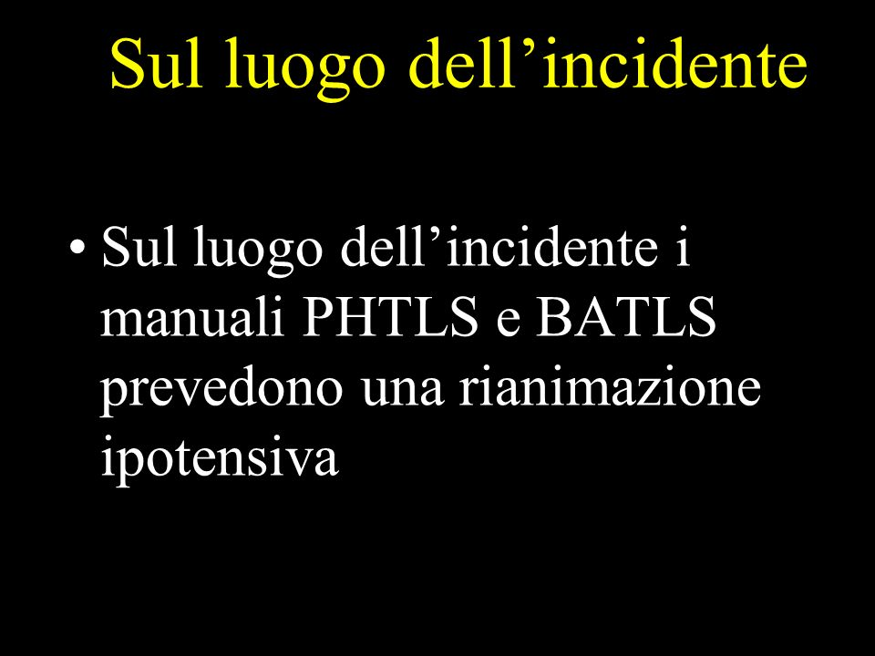 Sul luogo dell'incidente
