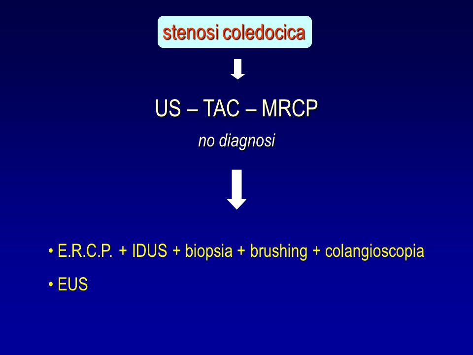 US – TAC – MRCP stenosi coledocica no diagnosi