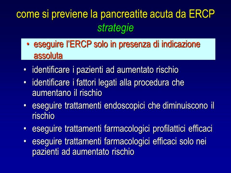 come si previene la pancreatite acuta da ERCP strategie