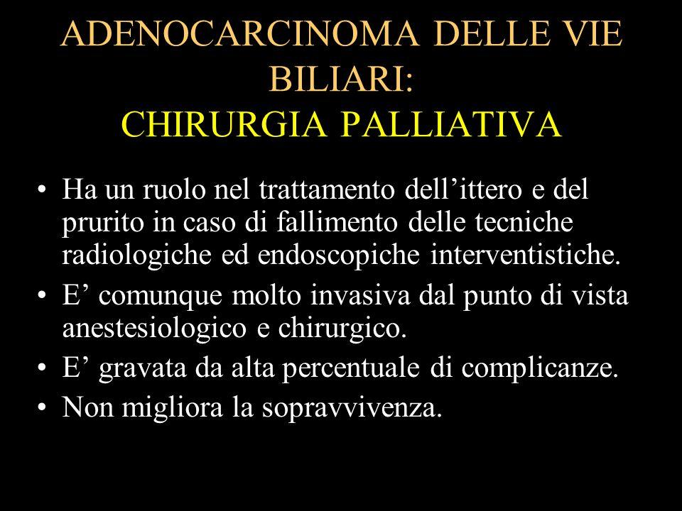 ADENOCARCINOMA DELLE VIE BILIARI: CHIRURGIA PALLIATIVA