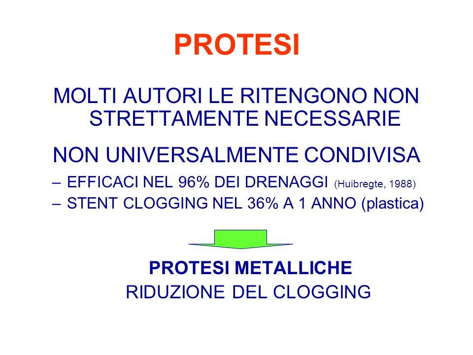 PROTESI MOLTI AUTORI LE RITENGONO NON STRETTAMENTE NECESSARIE