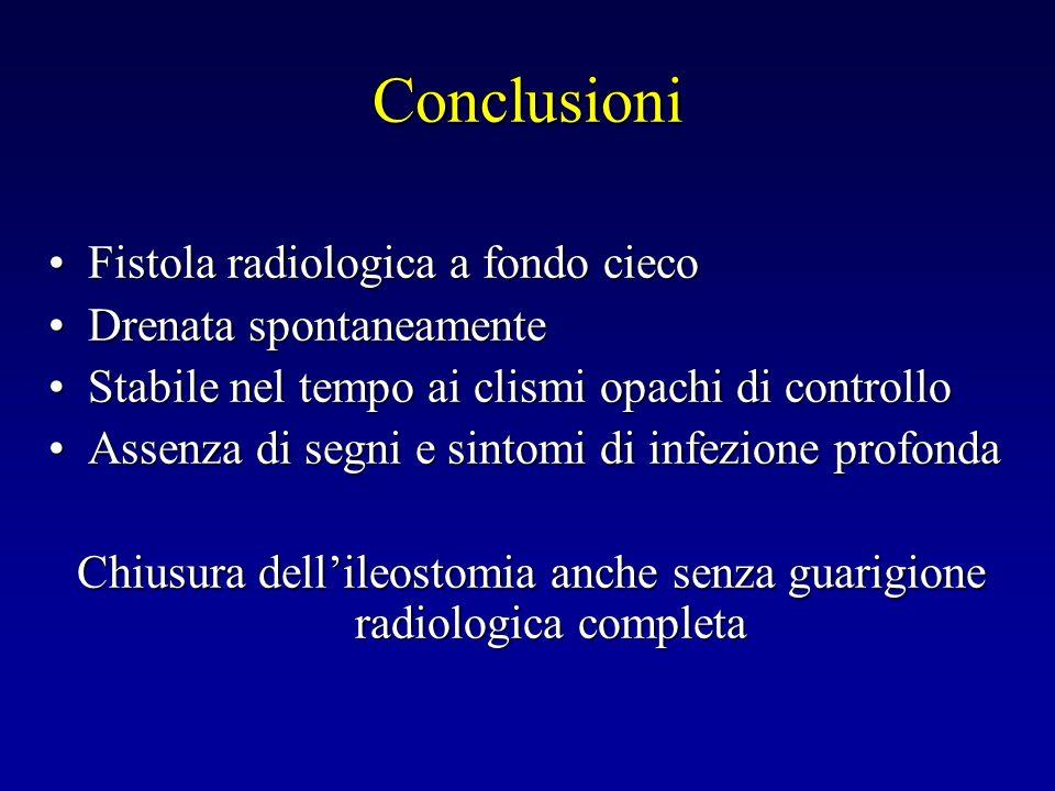 Chiusura dell'ileostomia anche senza guarigione radiologica completa