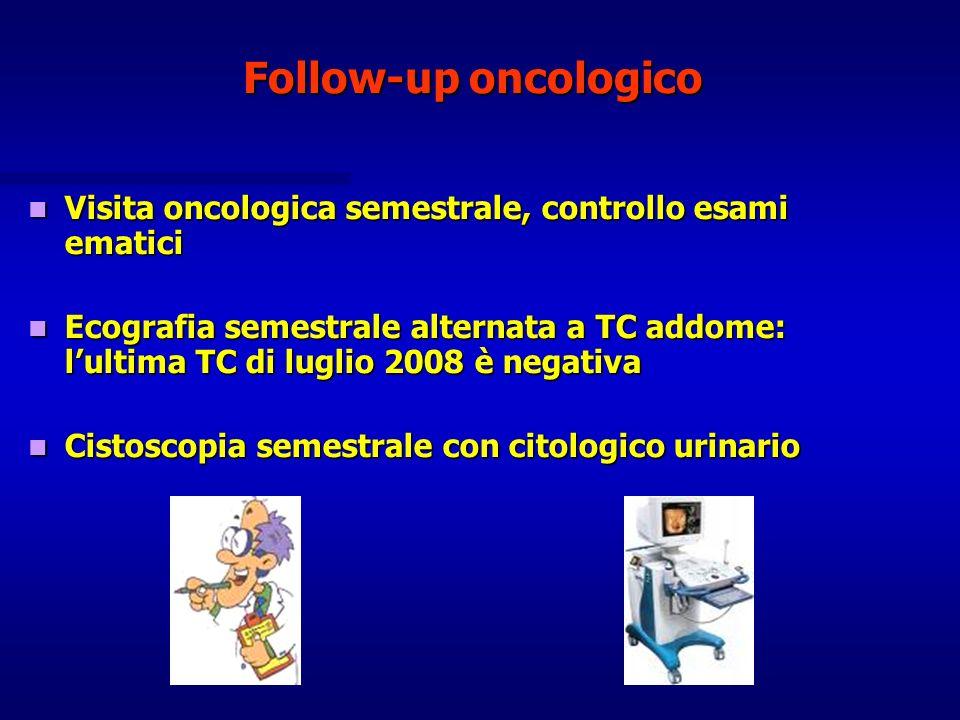 Follow-up oncologico Visita oncologica semestrale, controllo esami ematici.