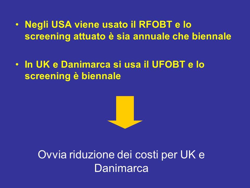 Ovvia riduzione dei costi per UK e Danimarca