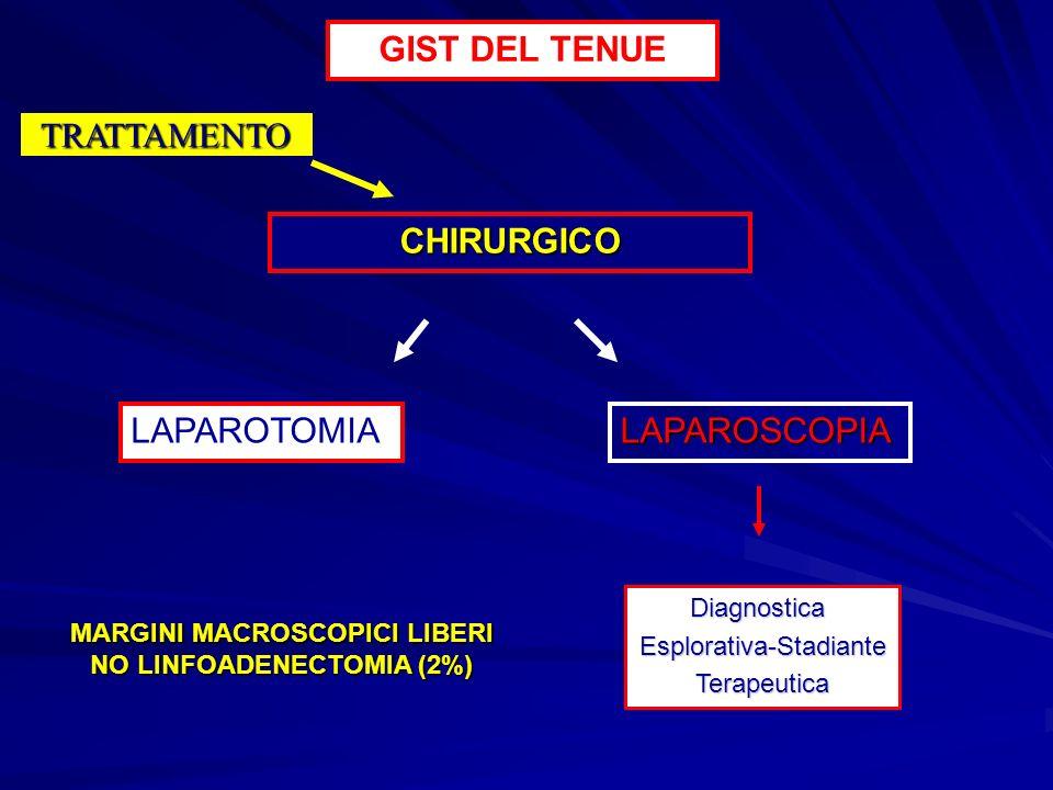 MARGINI MACROSCOPICI LIBERI NO LINFOADENECTOMIA (2%)