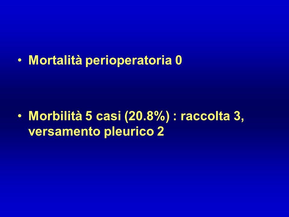 Mortalità perioperatoria 0