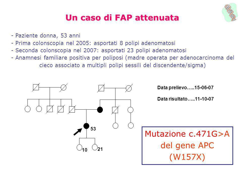 Un caso di FAP attenuata