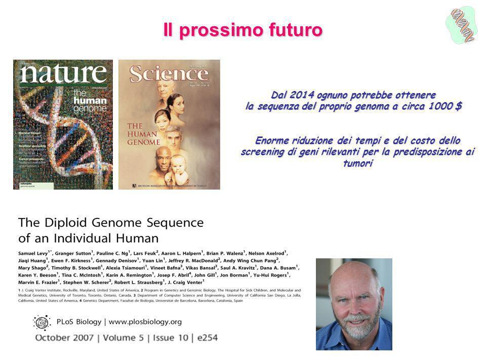 Il prossimo futuro Dal 2014 ognuno potrebbe ottenere