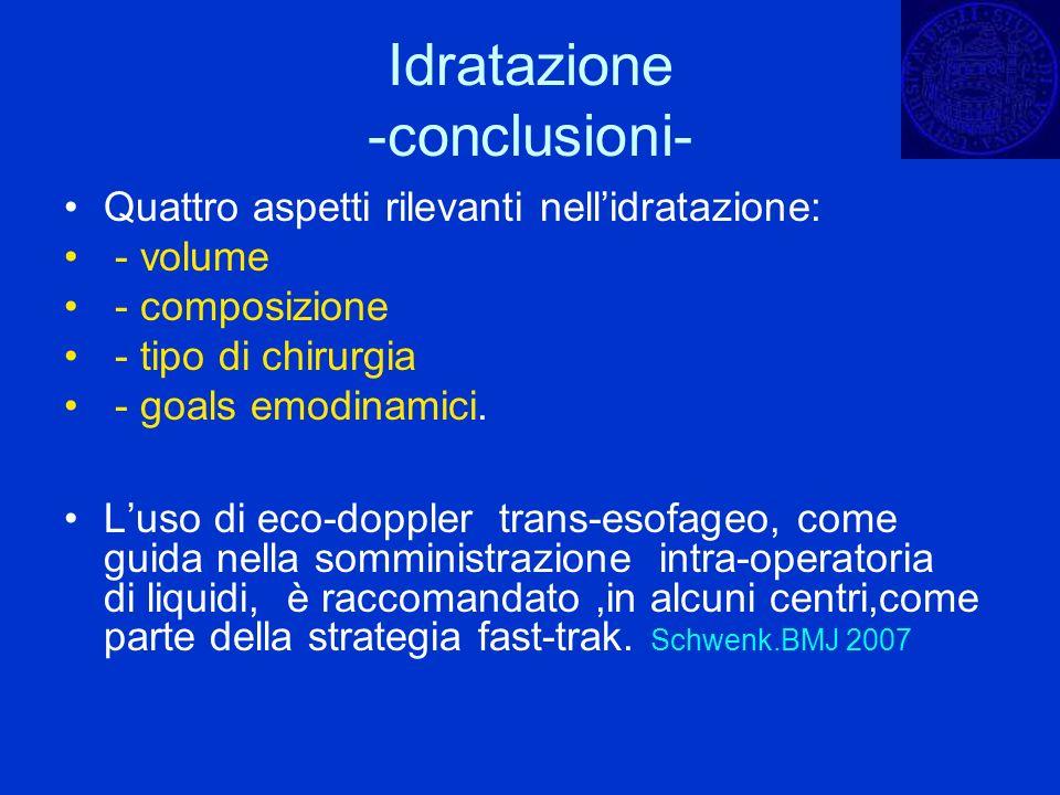 Idratazione -conclusioni-