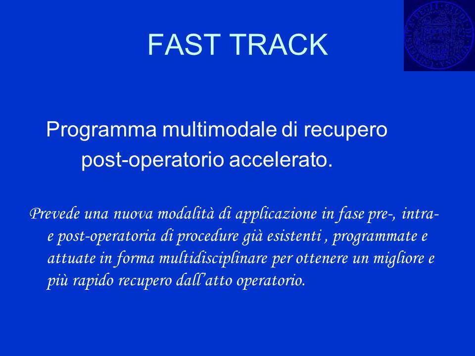 FAST TRACK Programma multimodale di recupero