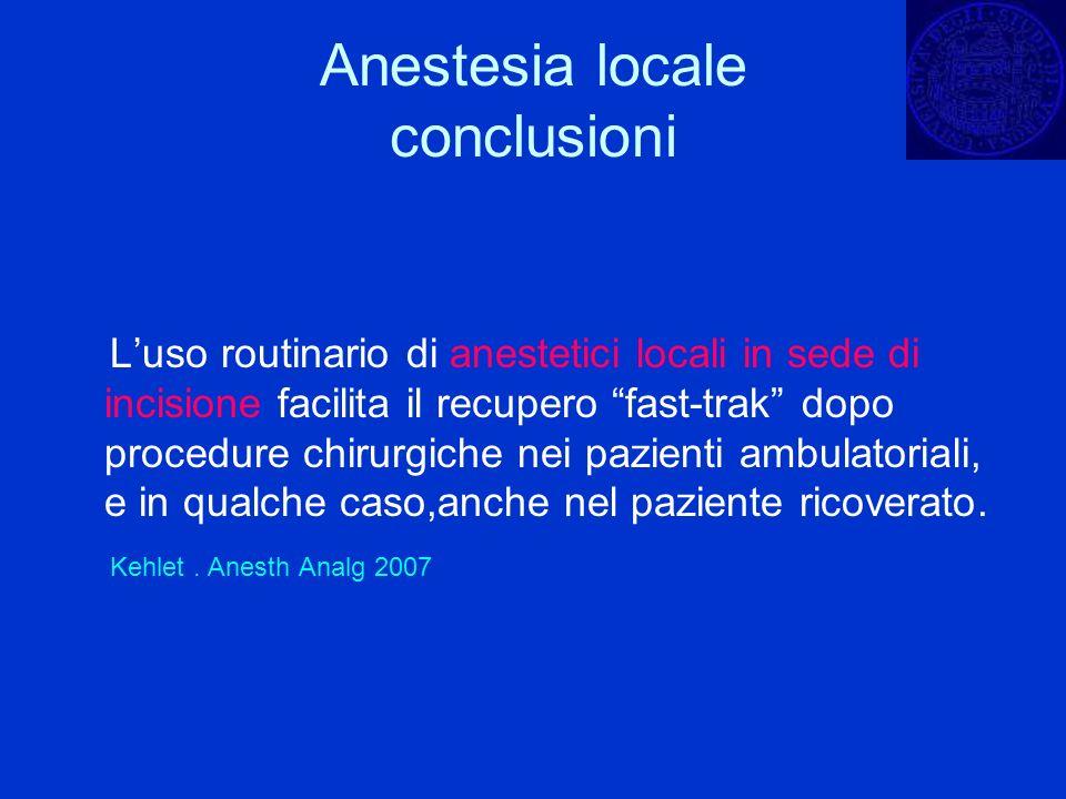 Anestesia locale conclusioni