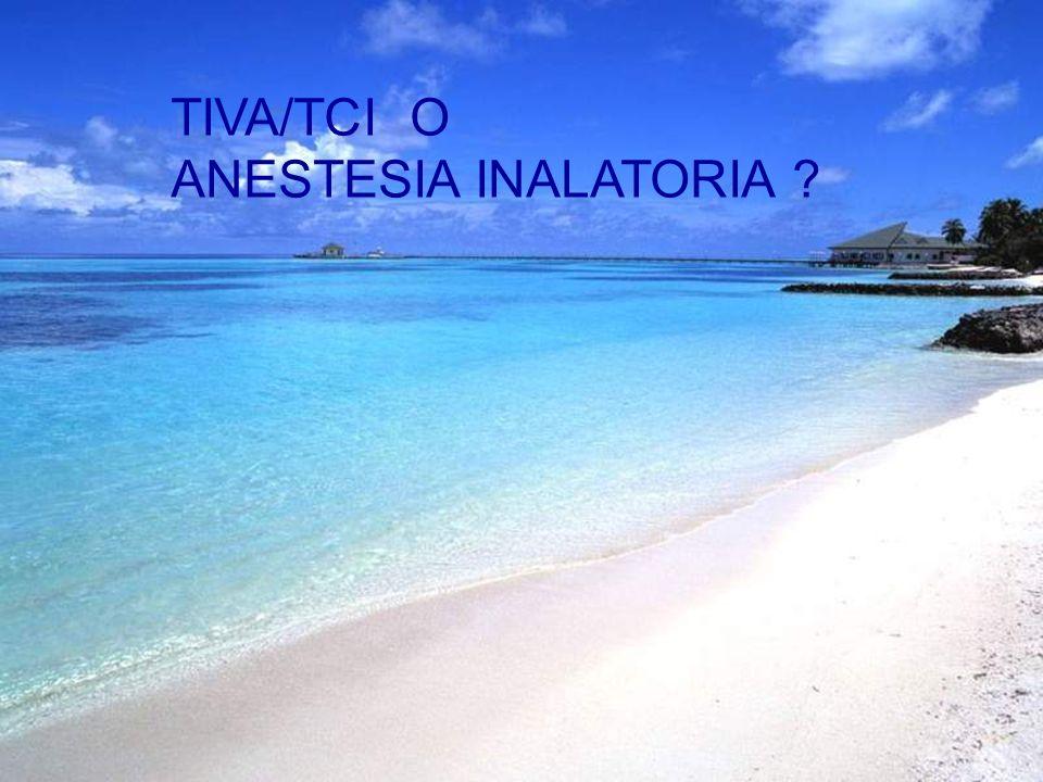 TIVA/TCI O ANESTESIA INALATORIA