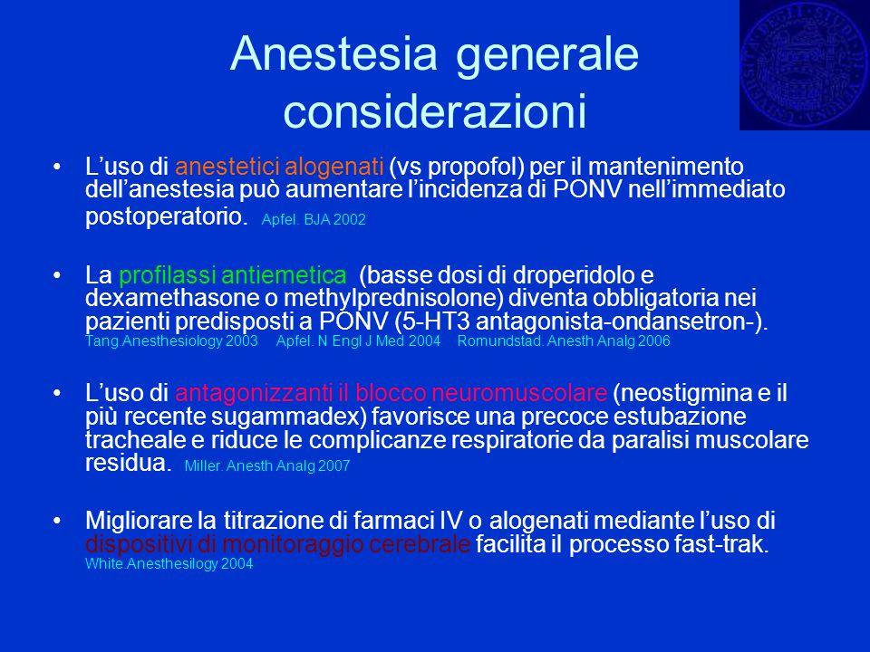 Anestesia generale considerazioni