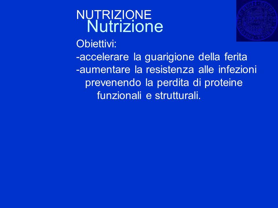 Nutrizione NUTRIZIONE Obiettivi: