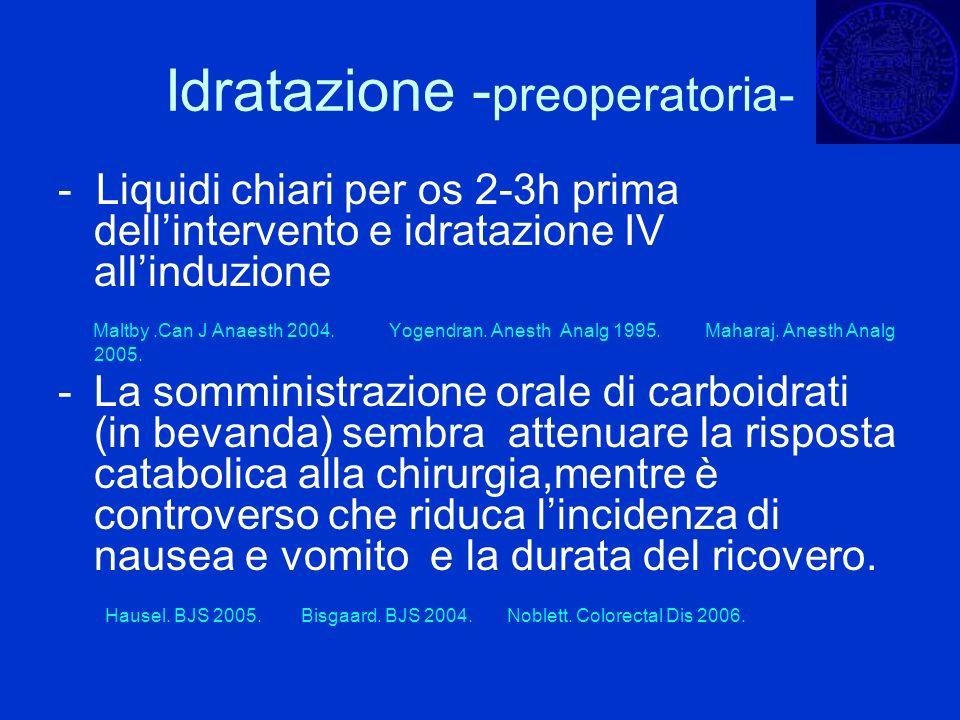Idratazione -preoperatoria-
