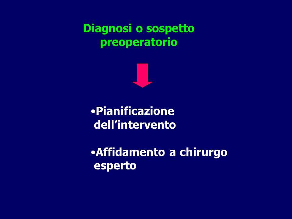 Diagnosi o sospetto preoperatorio