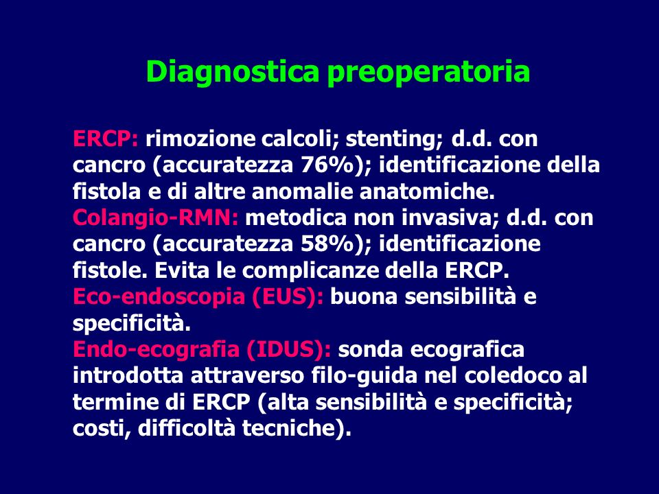 Diagnostica preoperatoria