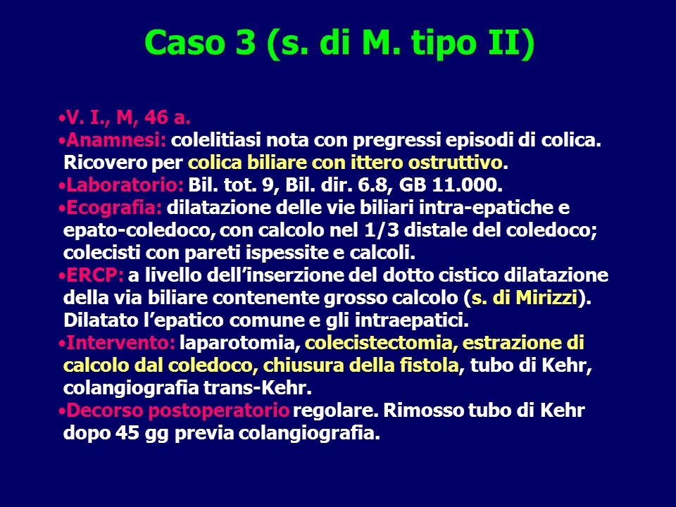 Caso 3 (s. di M. tipo II) V. I., M, 46 a.