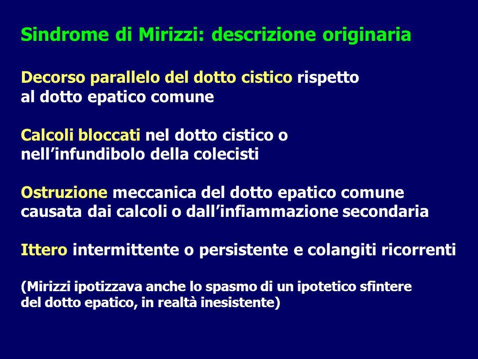 Sindrome di Mirizzi: descrizione originaria