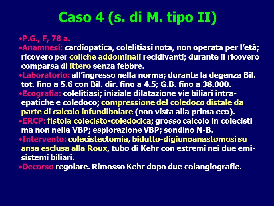 Caso 4 (s. di M. tipo II) P.G., F, 78 a.