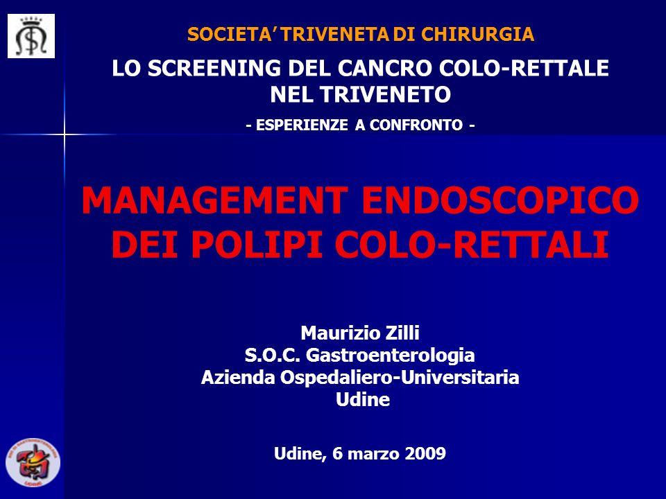 MANAGEMENT ENDOSCOPICO DEI POLIPI COLO-RETTALI