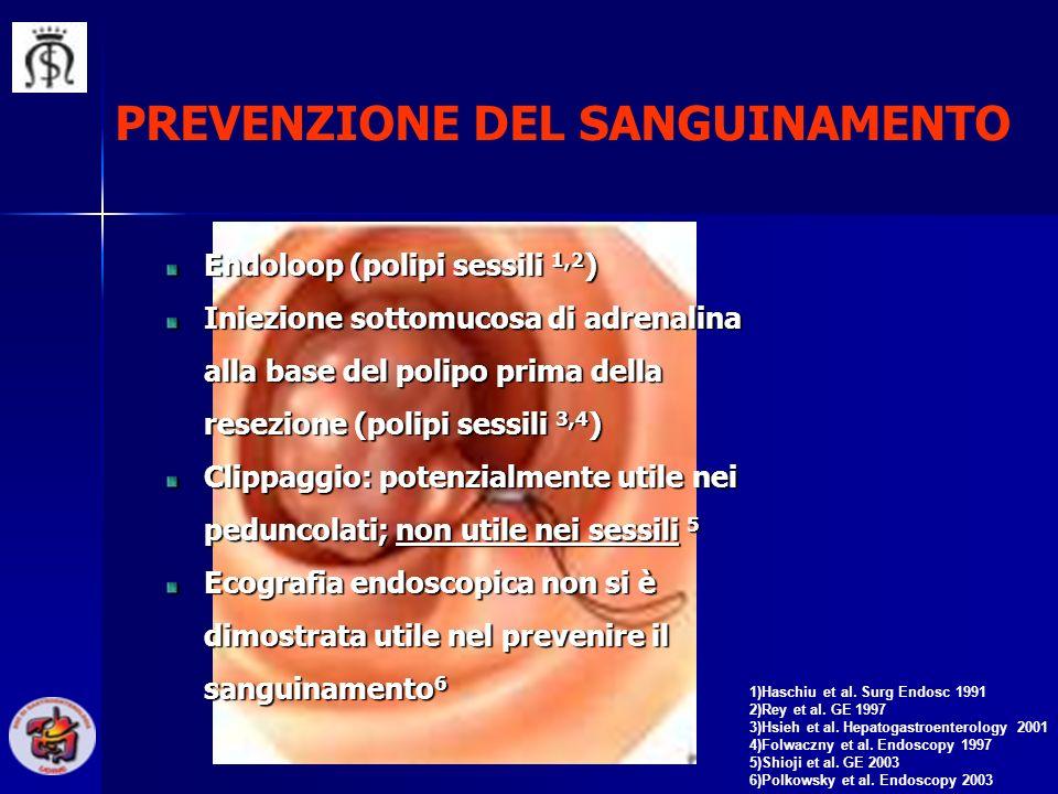 PREVENZIONE DEL SANGUINAMENTO