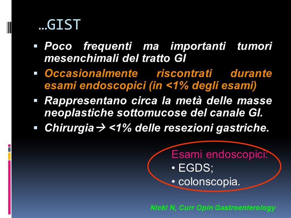 …GIST Poco frequenti ma importanti tumori mesenchimali del tratto GI