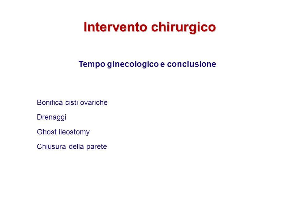 Intervento chirurgico Tempo ginecologico e conclusione