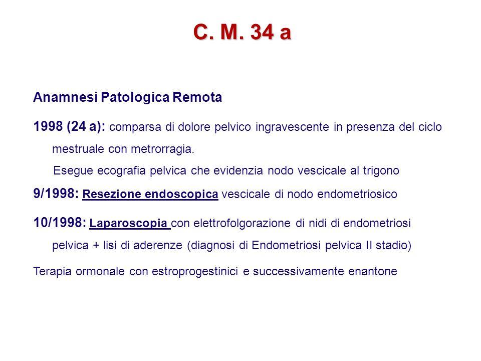 C. M. 34 a Anamnesi Patologica Remota