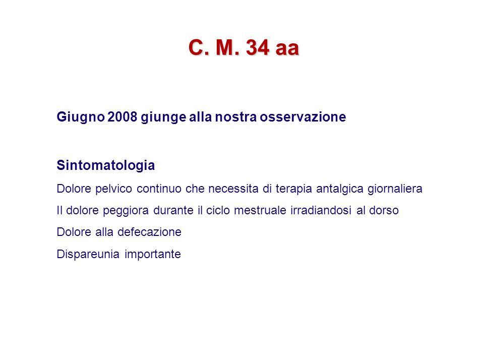 C. M. 34 aa Giugno 2008 giunge alla nostra osservazione Sintomatologia