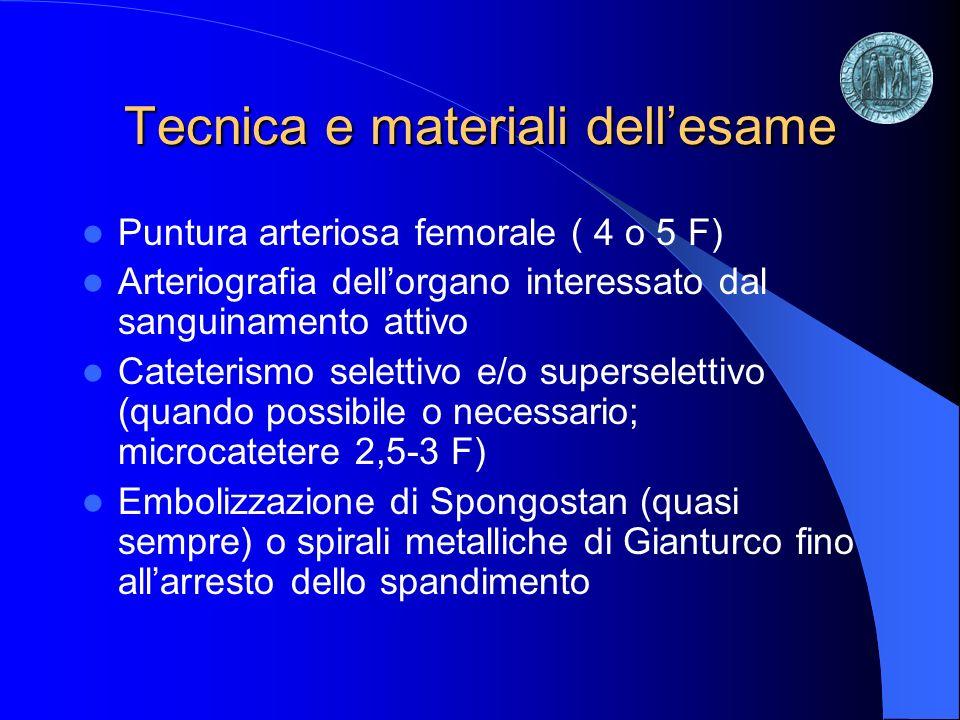Tecnica e materiali dell'esame