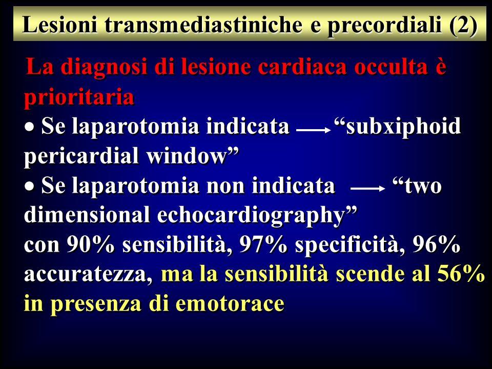 Lesioni transmediastiniche e precordiali (2)